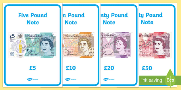 free british uk money coins and notes display posters ks1. Black Bedroom Furniture Sets. Home Design Ideas