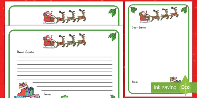 Letter to santa writing template english afrikaans letter to santa paper thank you letter paper spiritdancerdesigns Gallery
