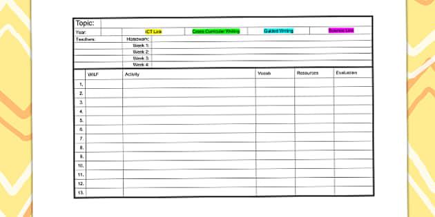Editable Class List Template   Class List, Editable, Template