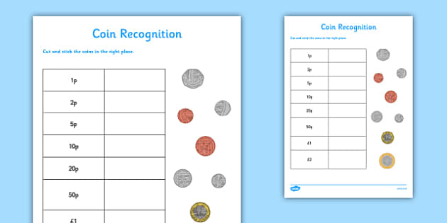coin recognition worksheet worksheet cfe numeracy money coin. Black Bedroom Furniture Sets. Home Design Ideas