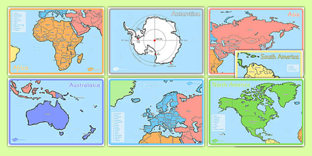 Name and locate the worlds seven continents and page 1 ks1 geography continents of the world poster pack gumiabroncs Gallery