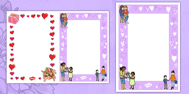 ks1 mother u0026 39 s day card insert templates