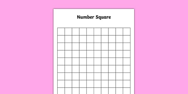 picture relating to Blank 100 Square Grid Printable named Blank 10 through 10 Amount Sq. - blank, 10 through 10, selection