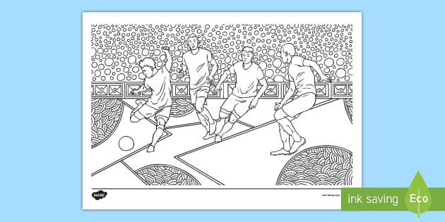 FREE! - KS2 Men's Football Mindfulness Colouring Page