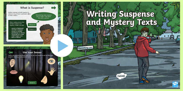 UKS2 Writing Suspense and Mystery Texts PowerPoint