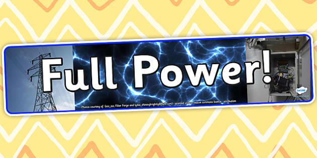 Image result for full power banner