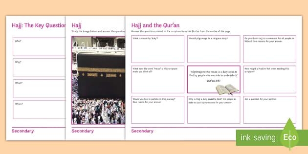 Hajj Activities Ks1