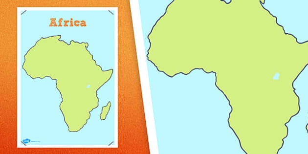 Large Blank Map Of Africa Large Blank Map Africa - Large blank world map