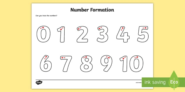 Number Formation Worksheet / Worksheet