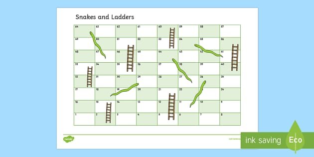 free editable snakes and ladders template