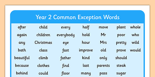 Common  Letter Word List