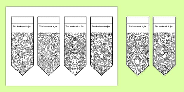 Mindfulness Patterns Colouring Bookmarks Mindfulness