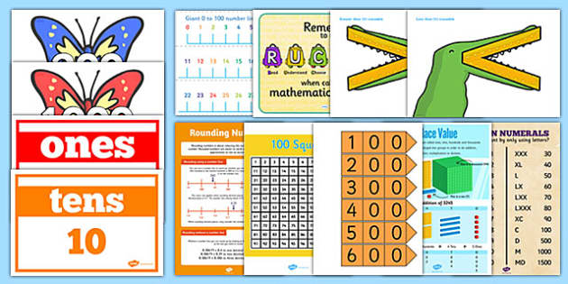 Number And Place Value Display Pack Lks2 Number Place Value