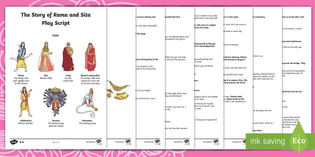 Rama and Sita Play Script Resource Pack - UKS2, LKS2, KS2, Year 3 R E
