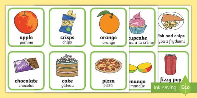 Cartes à trier : Les aliments sains et les aliments malsains