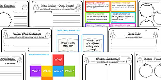 reading comprehension activity resource pack. Black Bedroom Furniture Sets. Home Design Ideas