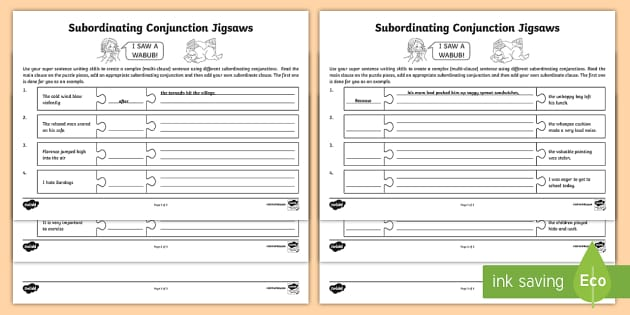 Subordinating Conjunctions KS2 What Is a Subordinating – Subordinating Conjunctions Worksheets