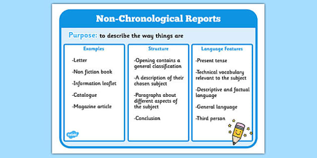 Image result for non chronological reports ks2