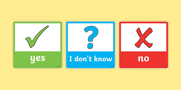 EAL Yes or No Answer Cards - eal, yes, no, answer, cards, card
