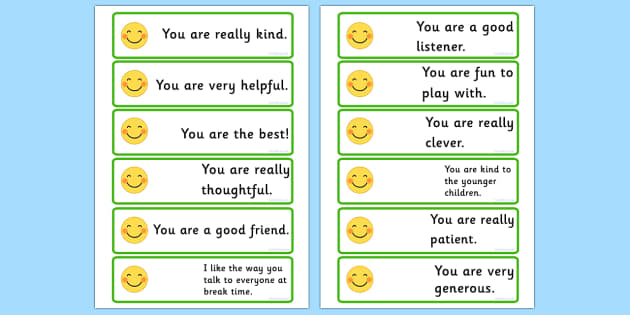 giving compliment Learn how giving compliments can help to reduce your anxiety, enable you to start conversations and develop friendships.