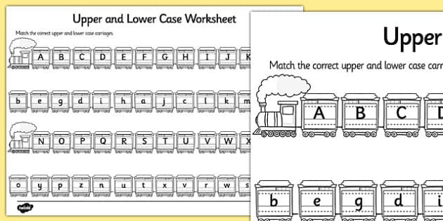 upper case and lower case matching worksheet alphabet upper. Black Bedroom Furniture Sets. Home Design Ideas