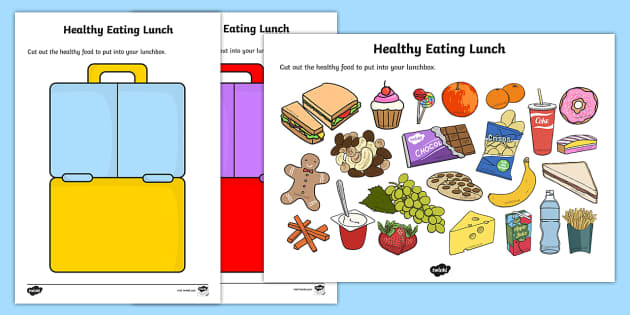 Healthy Eating Lunch Activity Healthy Healty Eating