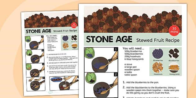 Stone Age Food Menu