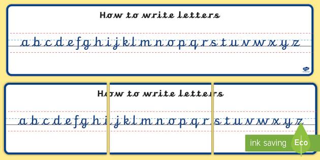 FREE! - Cursive Writing Alphabet Display Banners