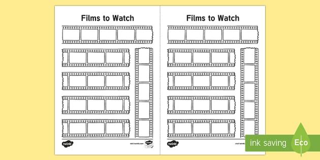 Bullet Journal Films To Watch Planner Bullet Journal Bujo