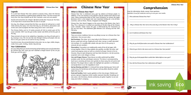 chinese new year differentiated reading comprehension activity chinese new. Black Bedroom Furniture Sets. Home Design Ideas