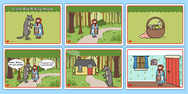 little red riding hood story sequencing speech bubbles. Black Bedroom Furniture Sets. Home Design Ideas