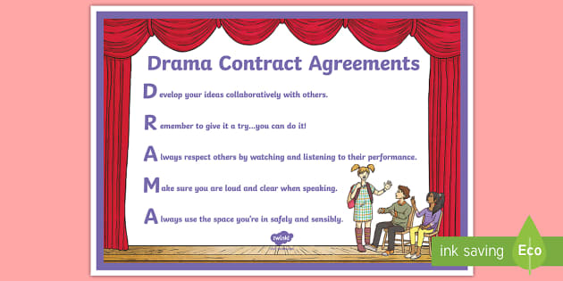 Classroom Ideas For New Years ~ Drama contract agreements display poster