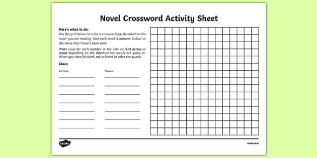 1 738 Top Novel Crossword Teaching Resources