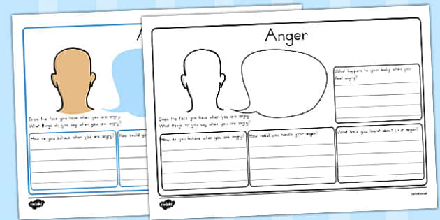 Anger Worksheet angry feeling emotions ourselves calm – Anger Worksheet
