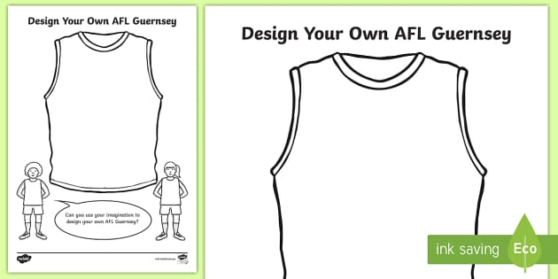 4c1f36122 Design Your Own AFL Shirt Activity - australia, sport, design, clothing