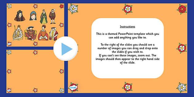 Powerpoint presentation background templates primary tudor themed editable powerpoint background template toneelgroepblik Gallery