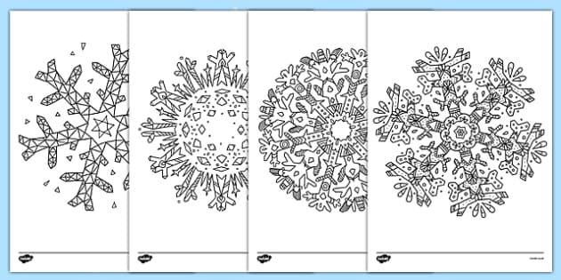 Mindfulness Colouring Snowflakes Mindfulness Colouring