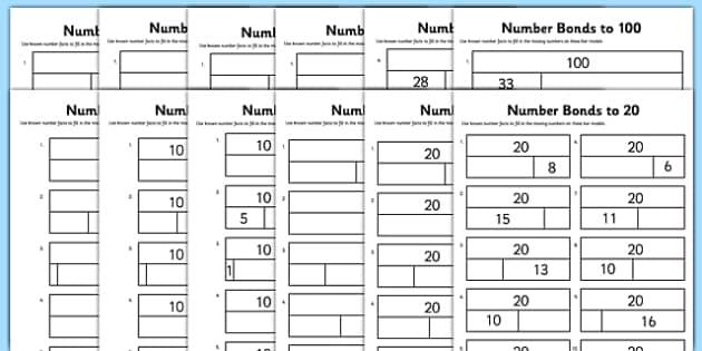 Bar modelling number bonds bumper pack differentiated worksheet ibookread ePUb