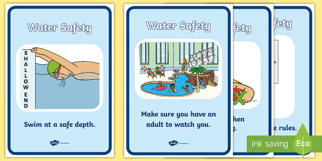 Water Safety Display Posters Water Safety Water Safe