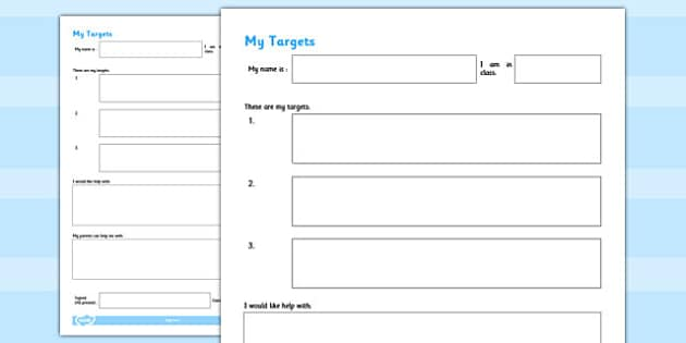 blank iep form template