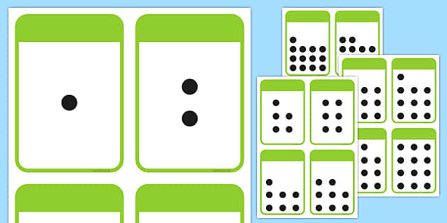free count the spots activity cards 1 20 teacher made. Black Bedroom Furniture Sets. Home Design Ideas