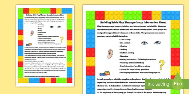 Building Brick Therapy Group Information Sheet Sen Therapy