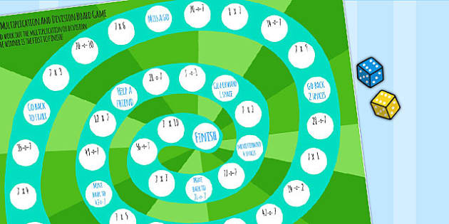 7 times table multiplication and division board game board - Free online times tables games ...