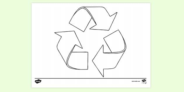 Reduce Reuse Recycle Colouring Page