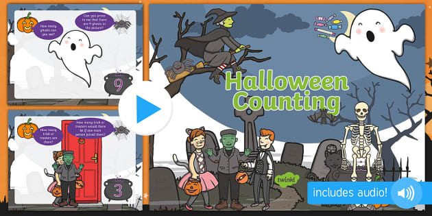 new halloween counting and reasoning powerpoint counting
