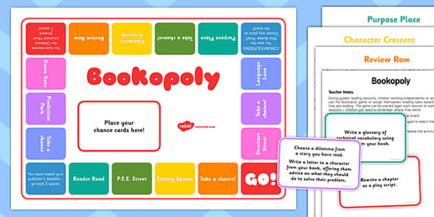 Bookopoly Board Game