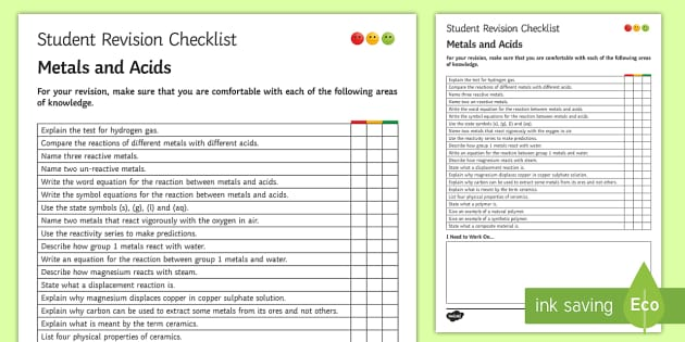 revision checklist Revision checklist when revising an essay, it is important to understand what types of problems need to be focused on.
