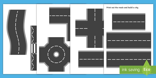 Resource image throughout printable roads