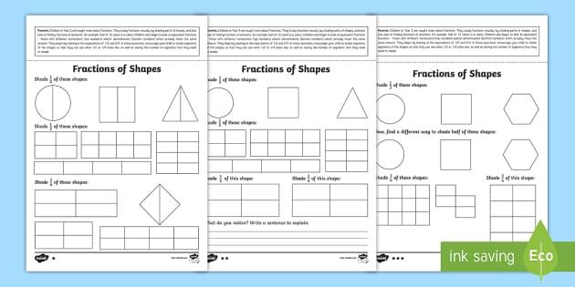 year 2 maths fractions of shapes homework worksheet worksheet year 2. Black Bedroom Furniture Sets. Home Design Ideas
