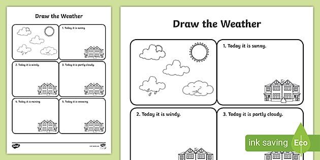Free Draw The Weather Worksheet Free Resource
